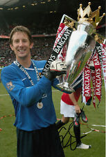 Manchester United main signé Edwin van der sar photo 12x8 2.