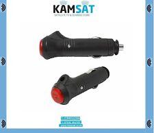 Car Cigarette Lighter Socket Plug Connector 12v Male 5A ON OFF Button KAMSAT