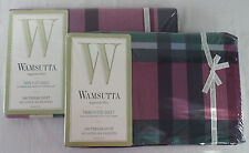 Vintage WAMSUTTA Supercale Plus Tyler Plaid Hunter Twin Flat & Fitted Sheets
