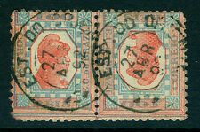BRAZIL 1891 LIBERTY HEAD 100r  blue & red - TETE-BECHE - Sc# 109b used VF scarce