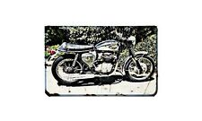 Bsa A65L Motorbike Sign Metal Retro Aged Aluminium Bike