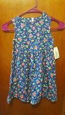 BABY GUESS NWT floral dress spring summer colorful blue navy  Girls size 5 Y
