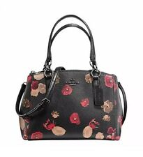 NWT Coach Mini Christie Carryall In Halftone FLoral Print Satchel  F55538