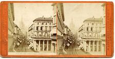 stereoview PHOTO STEREOSCOPIQUE / ITALIA ITALIE / MILANO CORSO VITTORIO EMANUELE