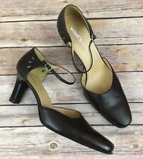 Whats What By Aerosoles Brown Leather Heel Hallie Womens Shoes Size 10M