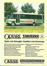 OPTARE STAR RIDER STAGE CARRIAGE COACH RANGE SALES 'BROCHURE'/SHEET LATE 80's?