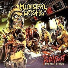 Municipal Waste-The Fatal Feast Waste In Space Vinyl LP Metal Sticker Or Magnet