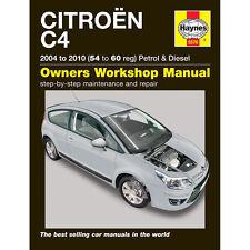 [5576] Citroen C4 1.4 1.6 2.0 Petrol Diesel 2004-10 (54 to 60) Haynes Manual
