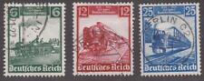 Germany 1935  #459-61 Centenary of Railroad in Germany - used