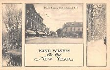 c.1910 Stores Public Square Port Richmond NY post card Staten Island