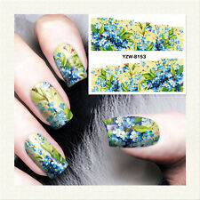 1 Sheet Nail Art Water Transfer Decal Manicure Sticker Flower Theme DIY YZW8153
