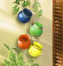 Planter Outdoor Terra Cotta Pots Hanging Indoor Garden Color Vintage Look Patio