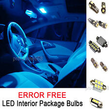 INTERIOR CAR LED LIGHT SMD PACKAGE BULBS KIT 8K Ice Blue FIT AUDI A4 (B8) SEDAN