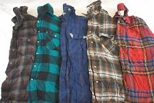Woolrich Lot of 5 Men's Wool/Acrylic Flannel Plaid Button-Down Shirts XL L12684