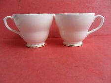 Duchess, Classic White with Gold Trim, 2 x Teacups