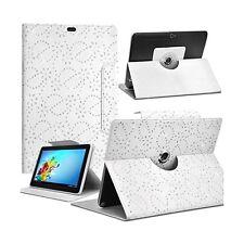 Housse Etui Diamant Universel M couleur Blanc pour Tablette Samsung Galaxy Tab A