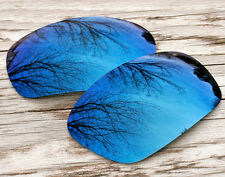 New Navy Blue Custom Mirrored Replacement Sunglass Lenses for Oakley Jawbone