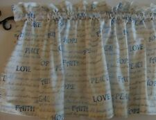 """Christian Scripture Words Valance Curtain Custom Made 42"""" Wide X 15"""" Long"""