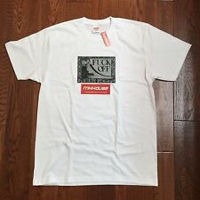 New Supreme F*ck Off Tee T-Shirt White Spring Summer 2016 Size Large L