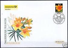 BRD 2006: Die Feuerlilie! Post-FDC der Nr 2534 mit Berliner Ersttagsstempel 1606