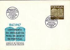 PORTUGAL FIRST DAY CENTENARY ABOLICAO PENA DE MORTE (1967)