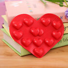 Cute DIY Heart Cake Mold Soap Flexible Silicone Mould For Candy Chocolate Cake L