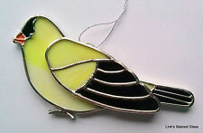 Stained Glass Gold Finch Bird sun catcher