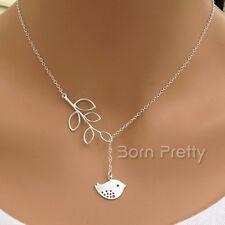 Pendentif Feuille oiseau court Collier Mignon Simple Style Necklace chaîne Bijou