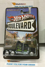 Long Gone BLACK w/ flames * Hot Wheels Boulevard Series Real Riders * A4