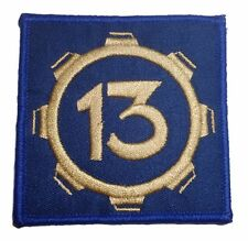 """Fallout Video Game Vault 13 Square 3  """" Wide Embroidered Iron On Patch"""