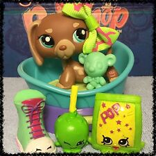 Littlest Pet Shop #1751 COCOA BROWN DACHSHUND WEINER DOG Rare SHOPKINS