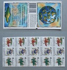 Singapore 1998, Booklet Dinosaurs Self Adhesive,  Mint