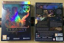 TYRANNY SPECIAL LIMITED EDITION PC DVD NEW SEALED FULL ENGLISH COLLECTOR'S PAL