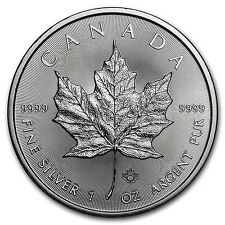 2016 Canada 1 oz Silver Maple Leaf BU - SKU #93757