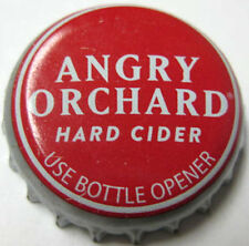 ANGRY ORCHARD HARD CIDER, USE OPENER, Red CROWN, Bottle CAP, Cincinnati, OHIO