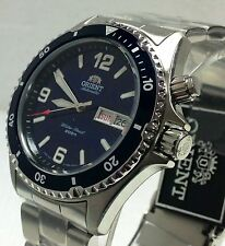 New Orient  Men's Blue Mako Automatic Diver Stainless Watch W- Orient Box