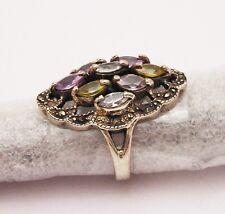Anello donna Argento 925 con Pietre Vintage Ovale OMA19
