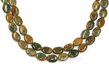 "16"" Natural Green Opal Flat Oval Beads 10x14mm #76058"
