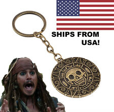 Pirates of the Caribbean Jack Sparrow Aztec Coin Metal Keychain