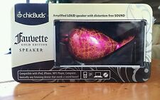 chicBuds Fauvette Gold Edition Speaker Amplified loud portable speaker pink