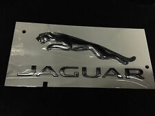 "Jaguar genuine ""boot lid"" jaguar ""texte & chat sauteur badge/autocollant/emblème"
