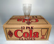 Mid Century Vintage Retro 60's Clear Federal Glass 12 Oz. Cola Glasses Box of 12