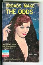 BROADS MAKE THE ODDS, rare US France #F13 sleaze gga football pulp vintage pb
