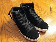 ZOO YORK MERCER SUEDE/CANVAS ORTHOLITE MEN'S HI-TOP SHOES SIZE 9.5 BLACK, NEW