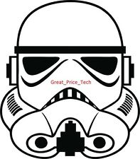 "Star Wars Stormtrooper Wall Sticker Decal Empire Car Tablet 5.5""x6.2"" White"