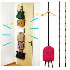 Practical Over Door Storage Organizer Hat Bag Clothes Straps Hanger Rack 8 Hooks