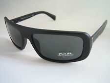 PRADA SUNGLASSES MATTE BLACK GREY SPR 03O 1BO 1A1 BNWT GENUINE