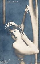 BE509 Carte Photo vintage card RPPC Femme woman Regina Badet unusual  couronne