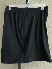 NEW  JUST MY SIZE  STRETCH WAIST POCKET COTTON JERSEY  SHORTS BLACK 3X