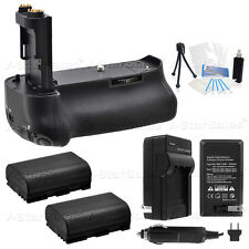Battery Grip for Canon EOS 5D MK III BG-E11+ 2x LP-E6 Batteries+ AC/DC Charger